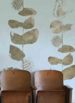 Papier peint végétal doré mat columbia road Gold matt par Custhom