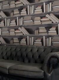Papier peint trompe l'oeil livres vintage Bookshelves par Studio Mold