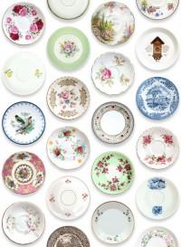 Porcelain, papier-peint assiettes par Studio Ditte