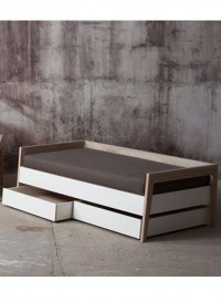 Child's solid wood sofa bed - intermediate size