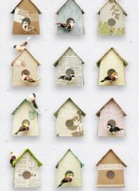 Birdhouse, papier-peint nids d'oiseaux par Studio Ditte