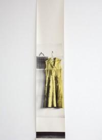 Trompe l'oeil wallpaper 'Frock dress' by Deborah Bowness