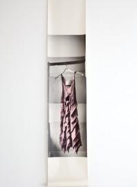 Trompe l'oeil wallpaper dress 'Blaak' by Deborah Bowness