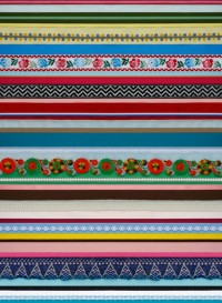 Ribbon wallpaper by Studio Ditte