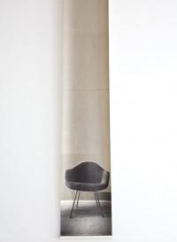 Trompe l'oeil wallpaper 'Rosie's Chair' wallpaper by Deborah Bowness