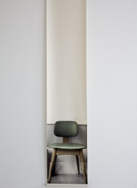 Trompe l'oeil wallpaper 'Gerald's Chair' by Deborah Bowness