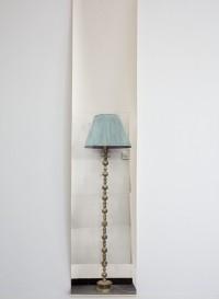 Trompe l'oeil wallpaper 'Semi Drum' lamp by Deborah Bowness