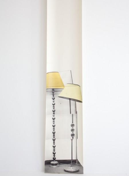 Panneau de papier lampe Semi Drum x2 par Deb Bowness