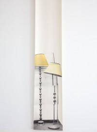 Trompe l'oeil wallpaper 'Semi Drum lamp x 2' by Deborah Bowness