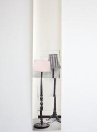 Round Drum lamp trompe l'oeil wallpaper designed by Deborah Bowness