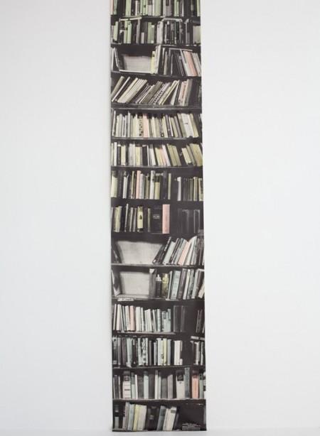 Panneau de papier bibliothèque Genuine Fake Bookshelves par Deb Bowness