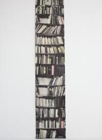 Trompe l'oeil wallpaper 'Genuine Fake Bookshelves' by Deborah Bowness