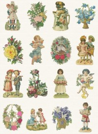 Vintage scraps wallpaper by Studio Ditte