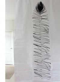 Rideau en tyvek Plume de Paon par Tracy Kendall
