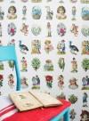Vintage scraps wallpaper by Studio Ditte