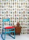 Vintage Scraps, papier-peint chromos par Studio Ditte