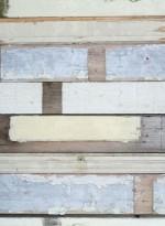 Scrapwood blanc, papier peint bois blanc par Studio Ditte
