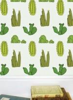 Papier-peint enfant Cactus par Eiza Fricker pour Baines&Fricker
