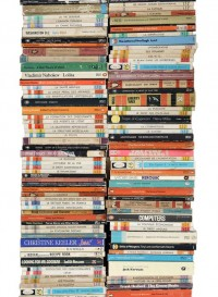 Paperback Stacks wallpaper by Tracy Kendall