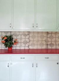 Papier-peint trompe l'oeil Carrelages Tiles A par Deb Bowness