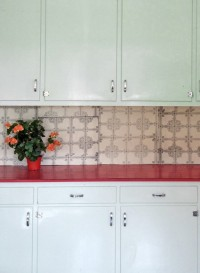Utility Tiles trompe l'oeil wallpapers by Deb Bowness