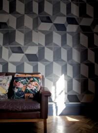 Papier-peint trompe l'oeil Carrelages Tiles D par Deb Bowness