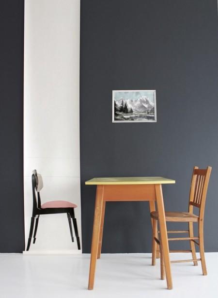 Panneau de papier Pink Chair par Deb Bowness