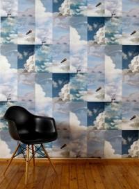 Papier-peint nuages Summer Blue par Little Owl