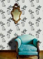 Papier-peint oiseaux Harry's Garden par Louise Body