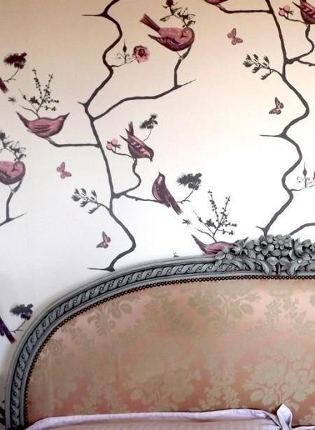 Papier-peint oiseaux Pavilion Birds par Louise Body