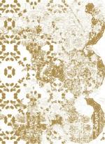 Papier-peint évolutif Leaf Lace doré par Lene Toni Kjeld
