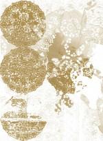 Gold Lace Rose transitional wallpaper by Lene Toni Kjeld