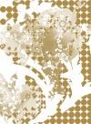 Gold Rose Wave transitional wallpaper by Lene Toni Kjeld