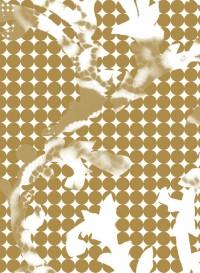 Papier-peint évolutif Wave doré par Lene Toni Kjeld