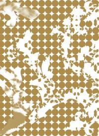 Gold Wave Leaf transitional wallpaper by Lene Toni Kjeld