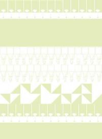 Papier-peint géométrique MisMatch Kiwi par Kirath Ghundoo
