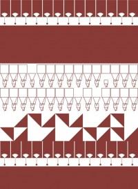 Papier-peint géométrique MisMatch Chilli par Kirath Ghundoo