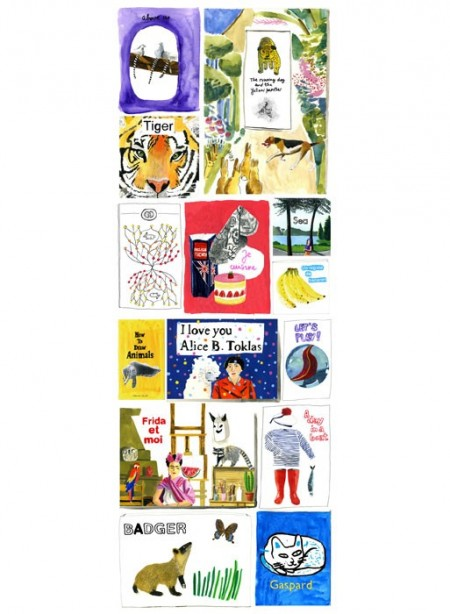 Wallpaper panel 'My books' by Marina Vandel for the Collection Editions