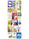 Mes livres, panneau de papier par Marina Vandel pour the Collection Editions