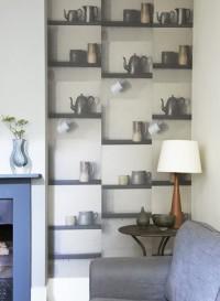 bric a brac shelf wallaper by Deborah Bowness