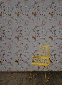 Papier peint Dutch Garden couleur cuivre de Little Owl