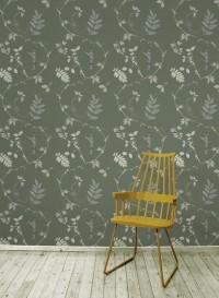 Wallpaper Dutch Garden Green designed by Little Owl