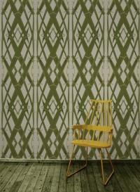 Wallpaper Meadow Grass Green designed by Little Owl