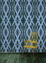 Papier peint Meadow Grass couleur bleu sarcelle