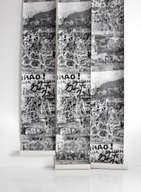 Papier-peint trompe l'oeil Graffitti par Deborah Bowness