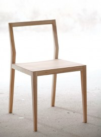 Ghost chair in solid ash or walnut designed by Mint