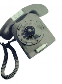 'Phoney phone' Vintage wallpaper telephone by Deborh Bowness