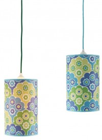 'Retro' lampshade by Inke - blue