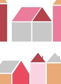 Papier peint Maisons rouges par Inke