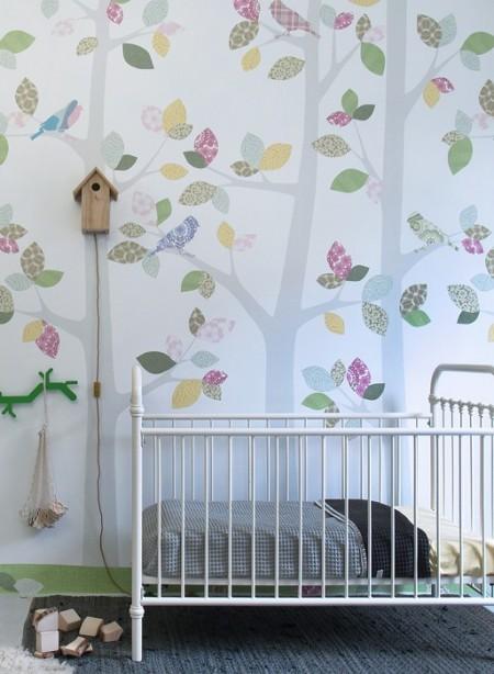 Papier peint Forêt en mai par Inke